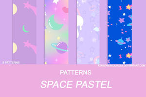 + SPACE PASTEL PATTERNS + by kiweeresxources