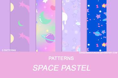 + SPACE PASTEL PATTERNS + by kiweeresxources