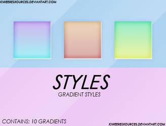 + GRADIENT STYLES + by kiweeresxources