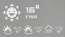 Pixel Weather Icons by BGBW