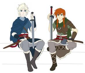 The Realm AU: Elsa and Anna by Zero-Kiba