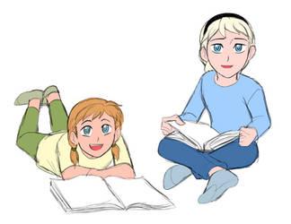 Little Anna and Elsa - Modern AU