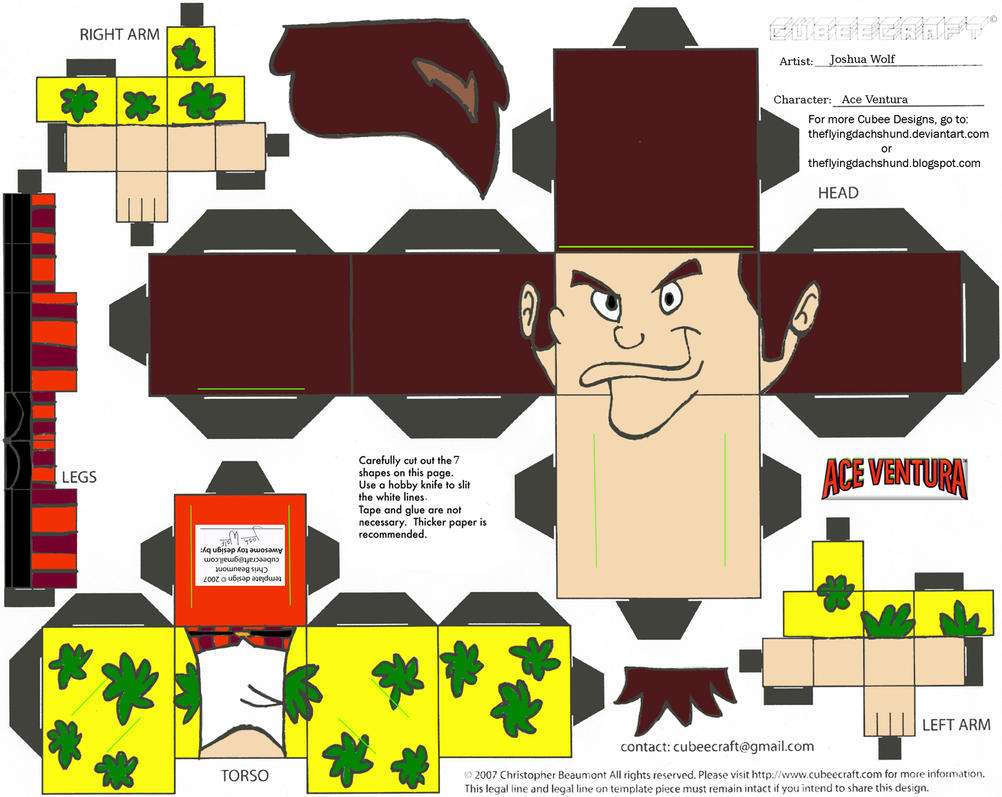 JC 1: Ace Ventura Cubee by TheFlyingDachshund