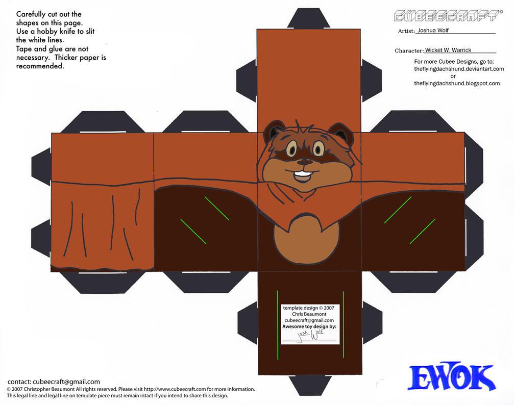 SW 1: Wicket Cubee by TheFlyingDachshund