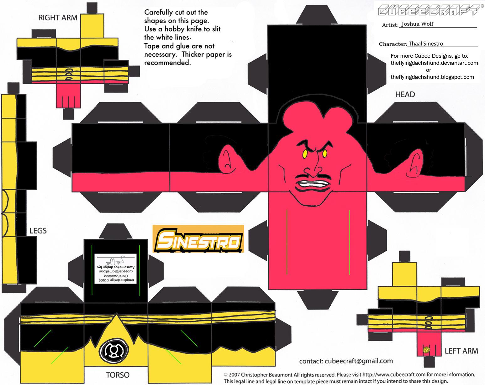 GL 4: Thaal Sinestro Cubee by TheFlyingDachshund