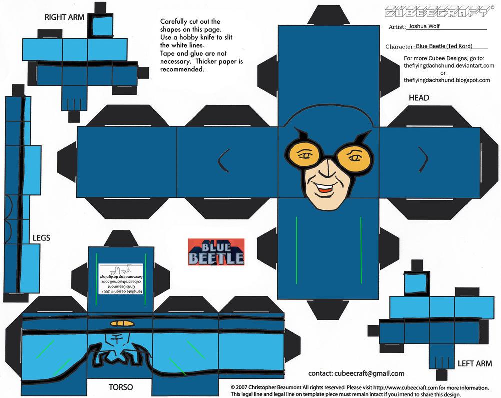 DC SH 1: Blue Beetle Cubee by TheFlyingDachshund
