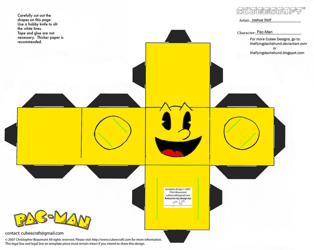 VG 2: Pac-Man Cubee by TheFlyingDachshund