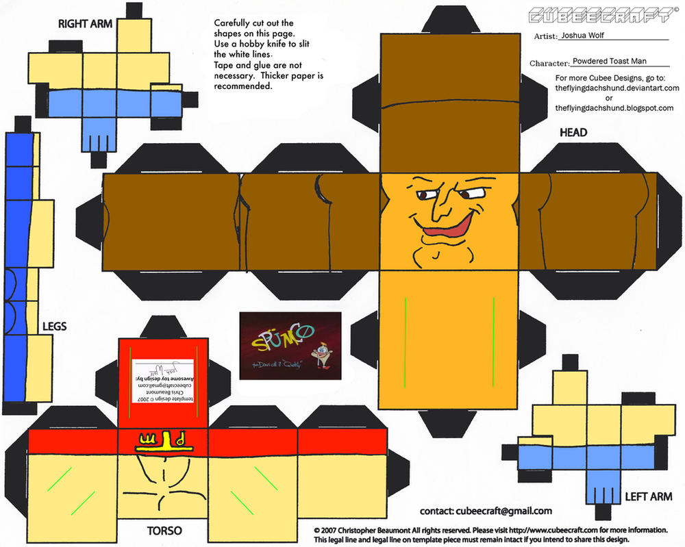 Spumco 2: Powdered Toast Man Cubee by TheFlyingDachshund