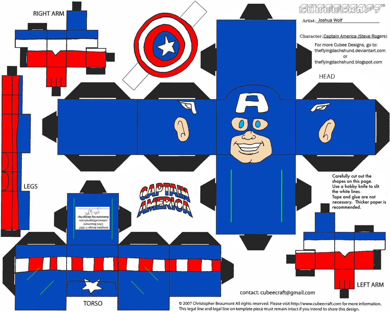 Marvel 1: Captain America Cubee by TheFlyingDachshund