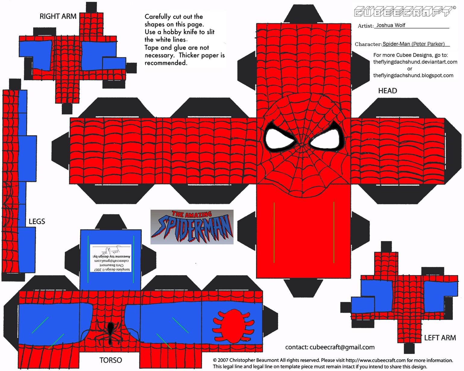 Marvel 1: Spider-Man Cubee by TheFlyingDachshund