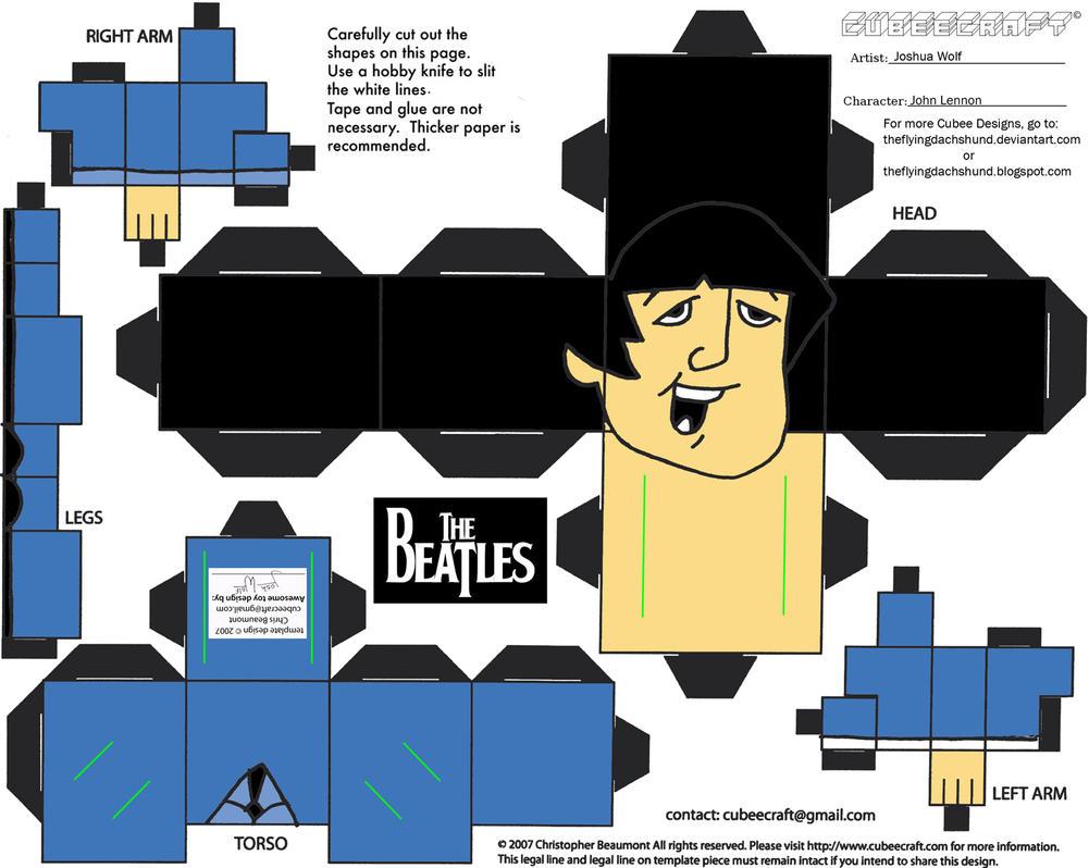 PC: John Lennon Cubee by TheFlyingDachshund
