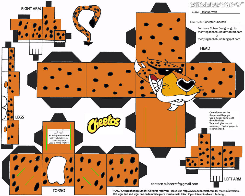 ADV CH1: Chester Cheetah Cubee by TheFlyingDachshund