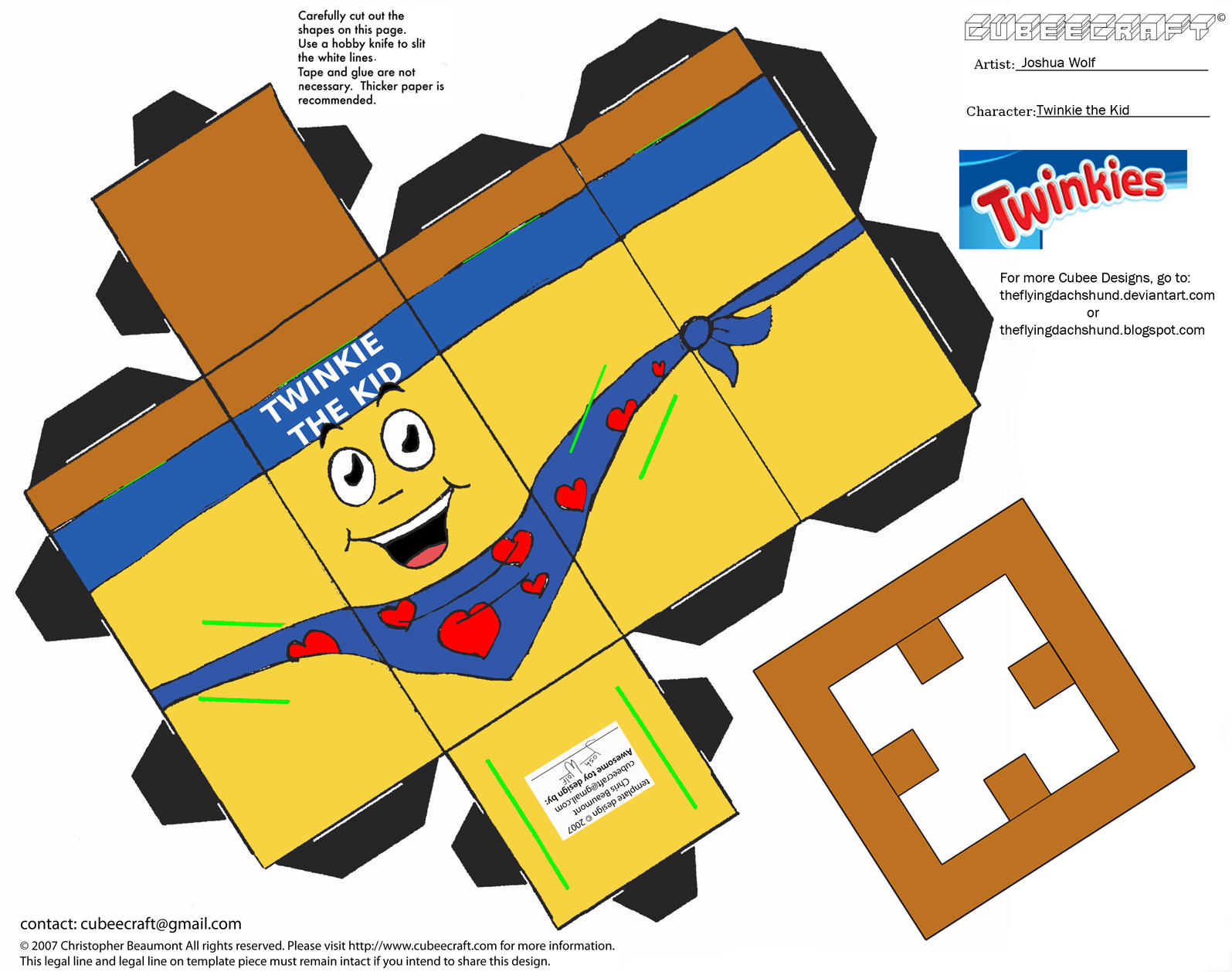 ADV CH1: Twinkie the Kid Cubee by TheFlyingDachshund