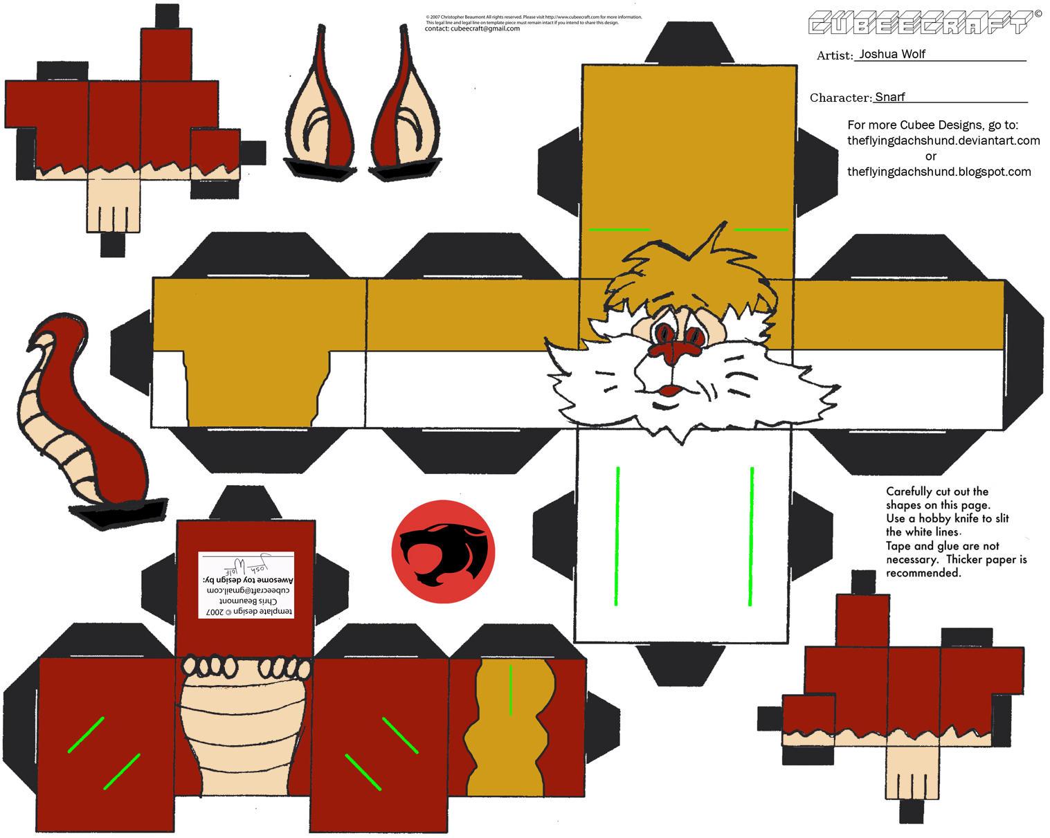 Thundercats 1: Snarf Cubee by TheFlyingDachshund