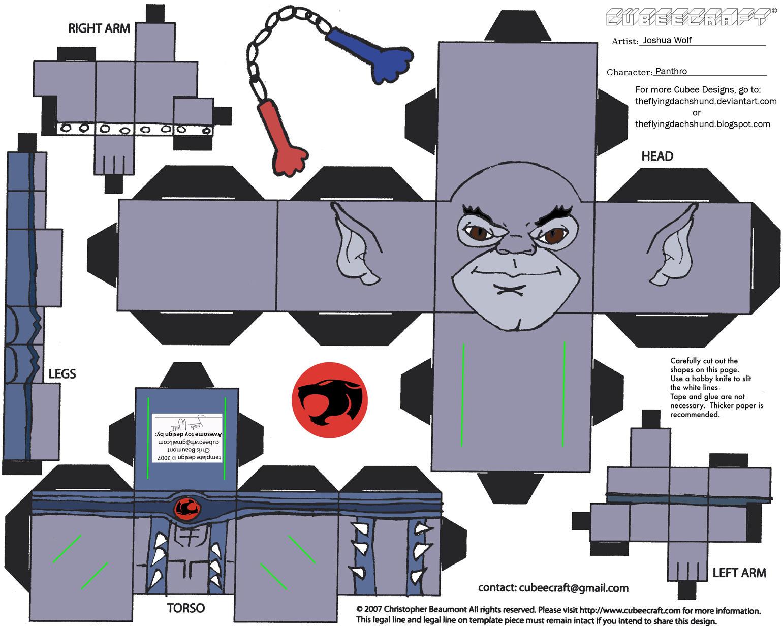 Thundercats 1: Panthro Cubee by TheFlyingDachshund