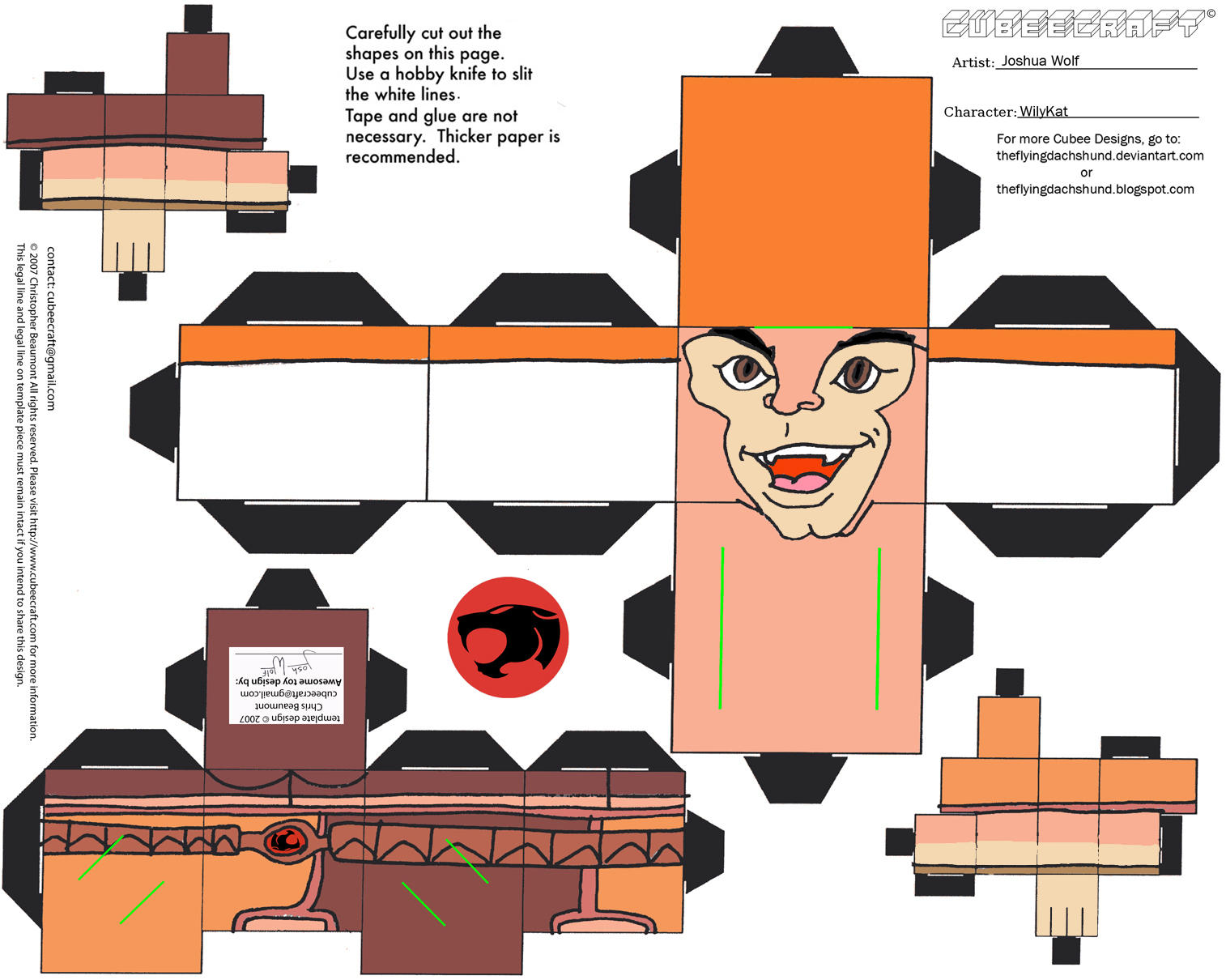 Thundercats 2: WilyKat Cubee by TheFlyingDachshund