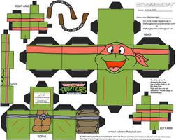 TMNT3: Michelangelo Cubee by TheFlyingDachshund