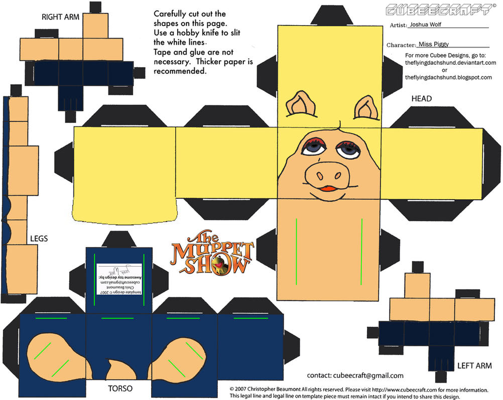 Muppets 1: Miss Piggy Cubee by TheFlyingDachshund