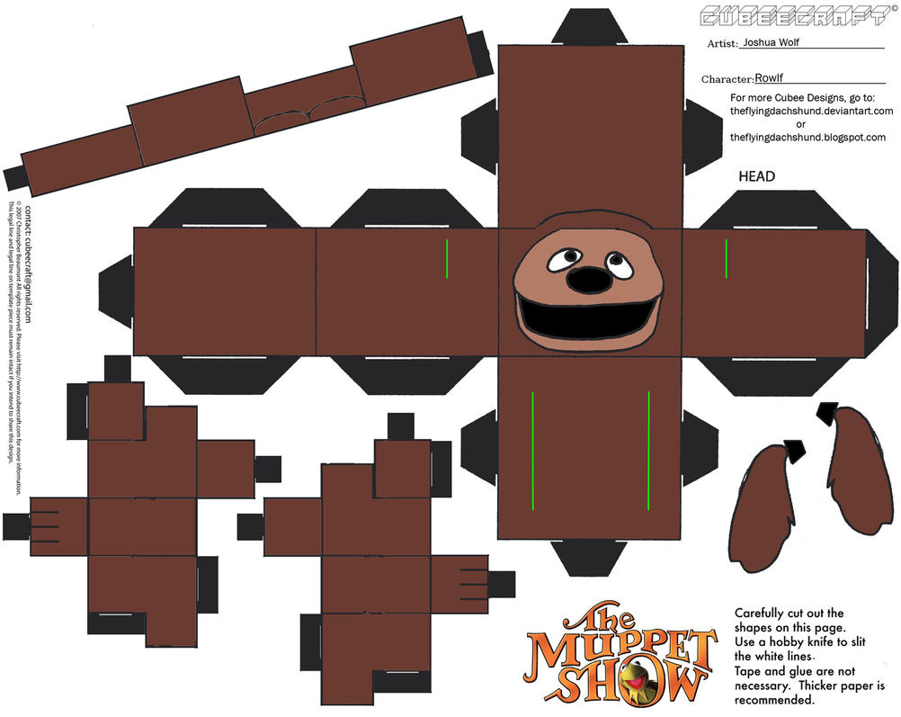 Muppets 2: Rowlf Cubee by TheFlyingDachshund