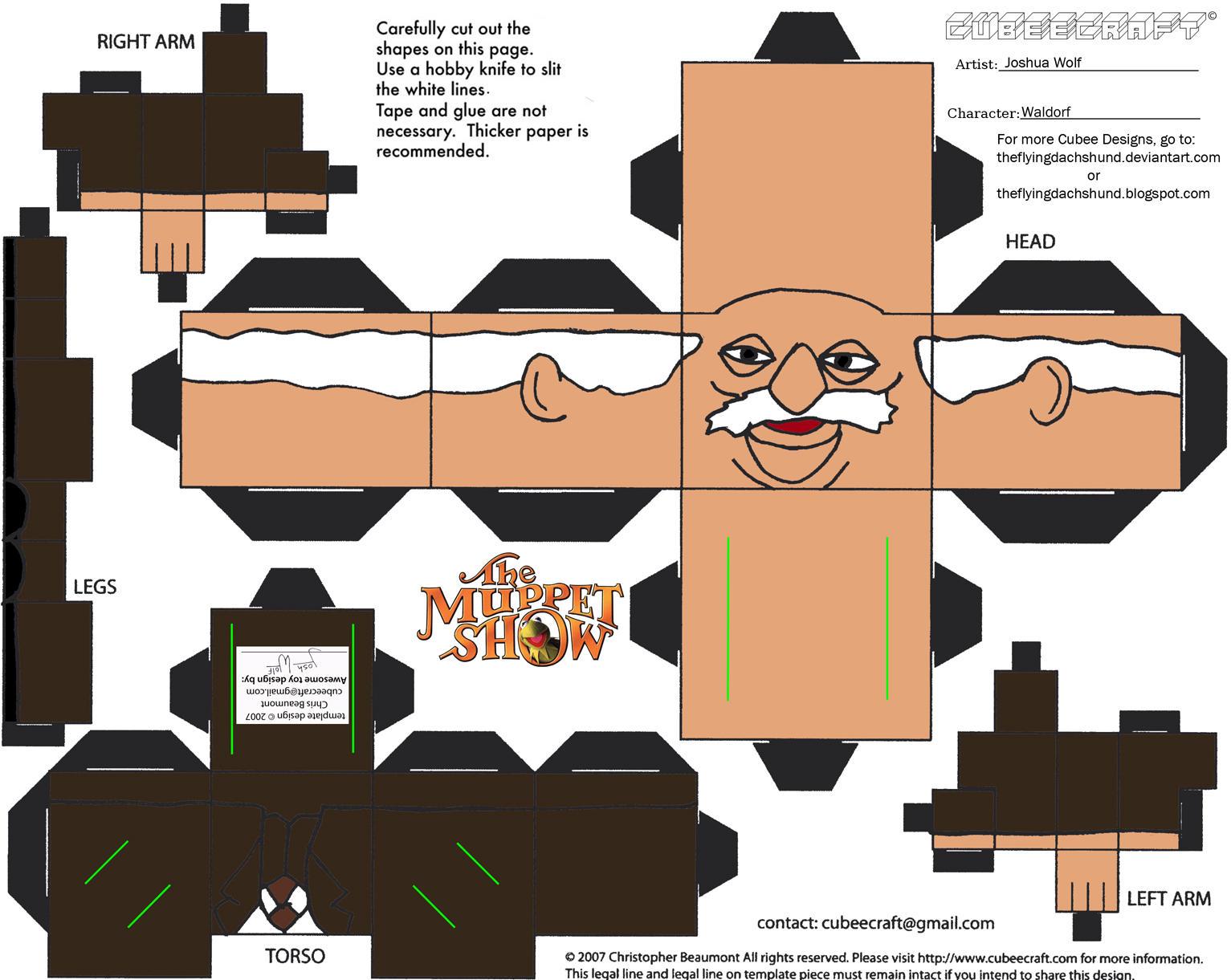 Muppets 3 Waldorf Cubee By Theflyingdachshund On Deviantart
