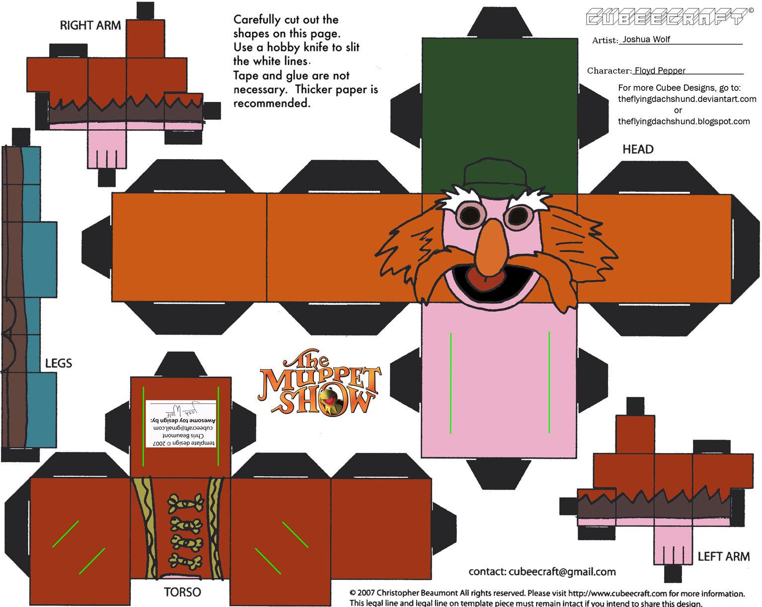 Muppets 4: Floyd Pepper Cubee by TheFlyingDachshund