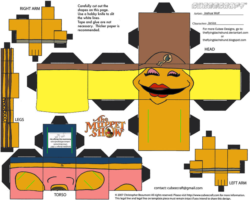 Muppets 4: Janice Cubee by TheFlyingDachshund