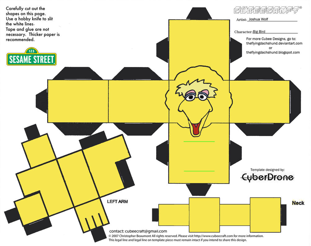 Muppets 8 Big Bird Cubee By Theflyingdachshund On Deviantart