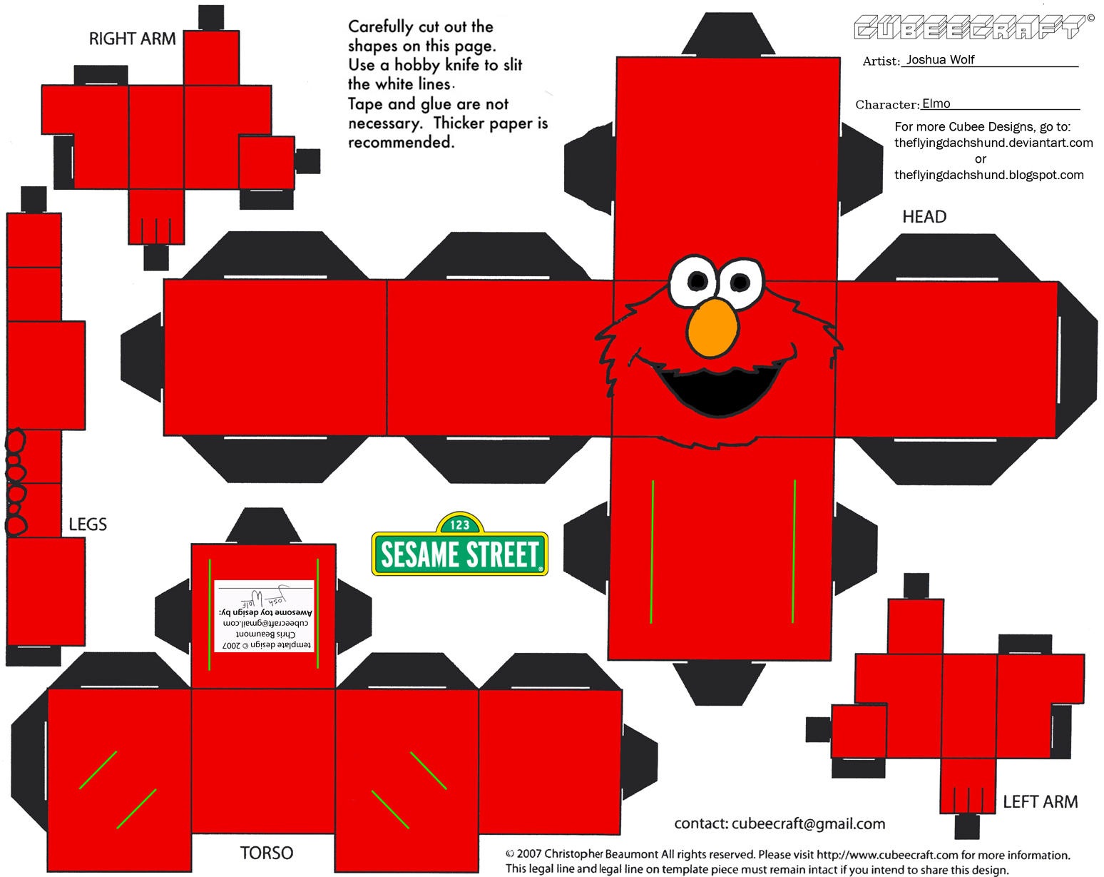 Elmo cut out patterns patterns kid template printable 589x595 muppets 14 elmo pronofoot35fo Choice Image