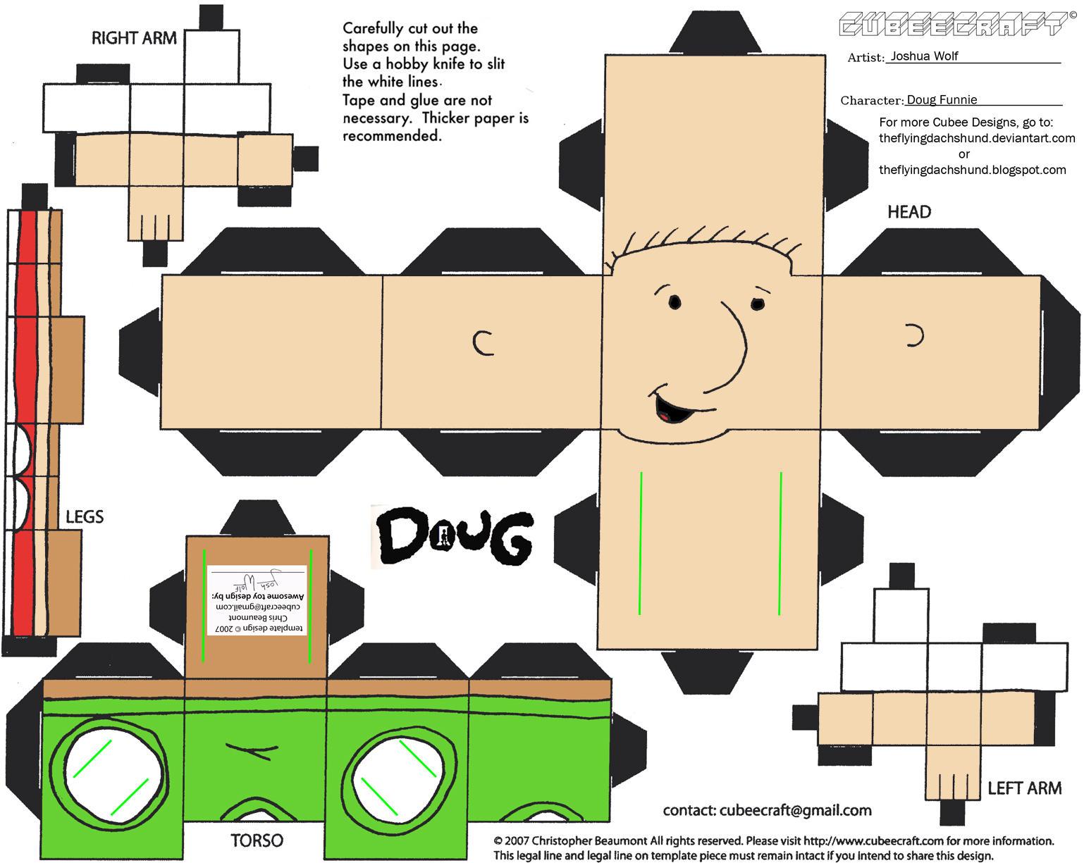 Doug: Doug Funnie Cubee by TheFlyingDachshund