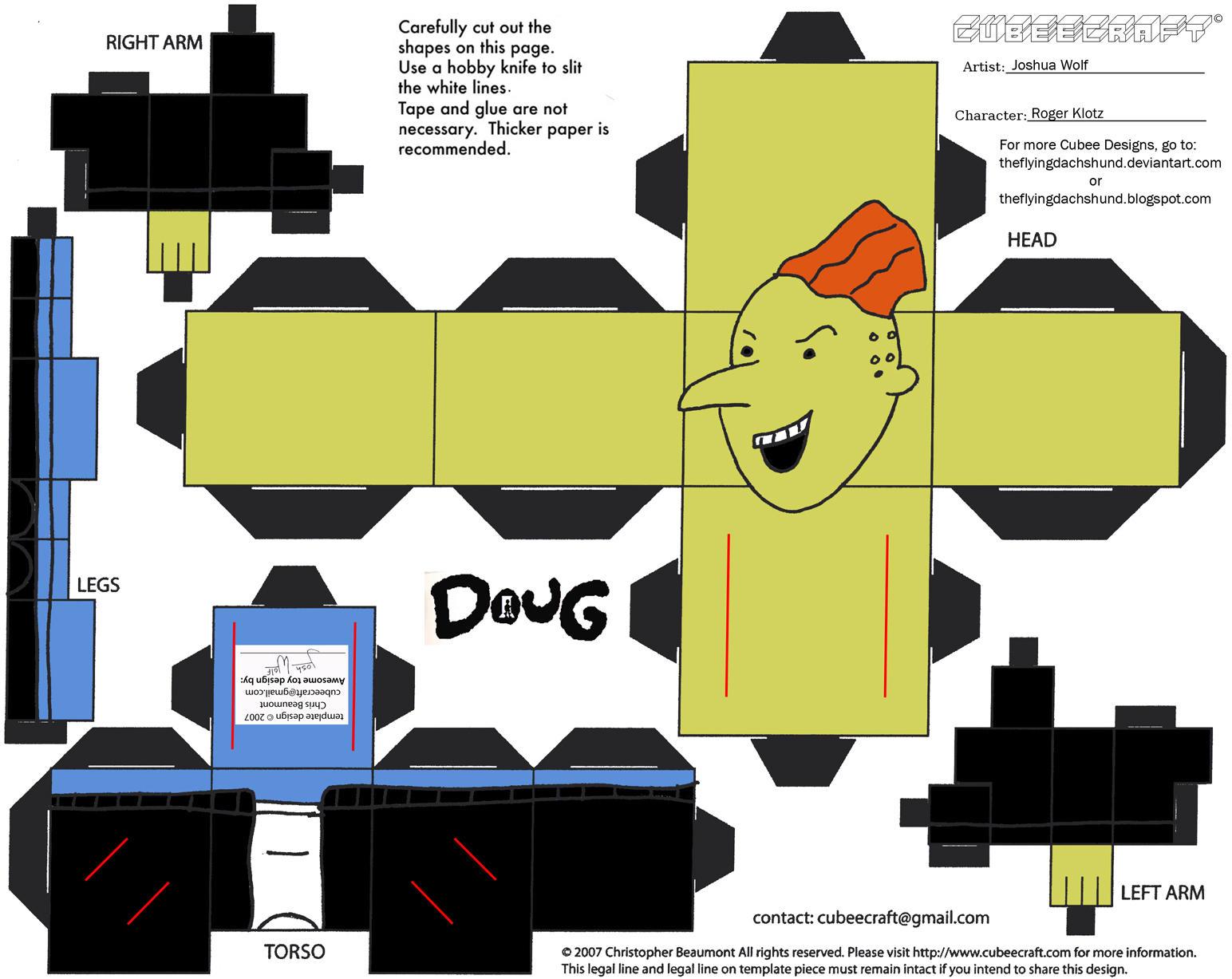 Doug: Roger Klotz Cubee by TheFlyingDachshund
