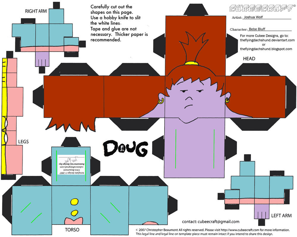 Doug: Bebe Bluff Cubee by TheFlyingDachshund