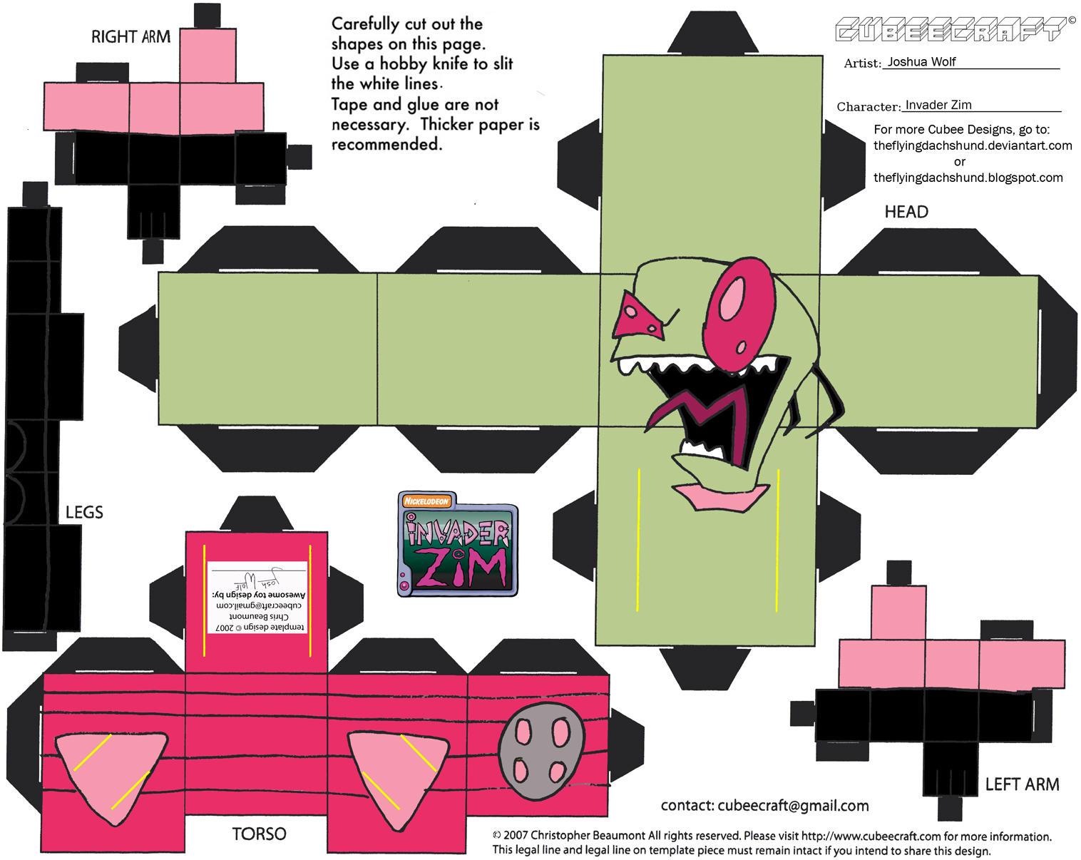 Zim: Invader Zim Cubee by TheFlyingDachshund