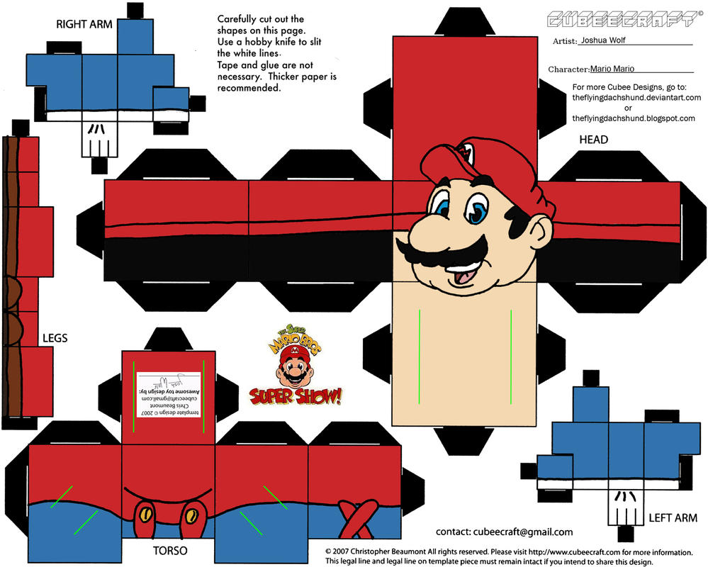 VG 3: Mario Cubee by TheFlyingDachshund