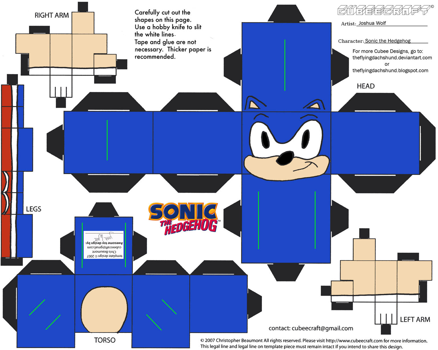 VG 4: Sonic Cubee by TheFlyingDachshund