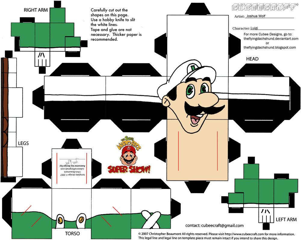 VG 5: Fireball Luigi Cubee by TheFlyingDachshund