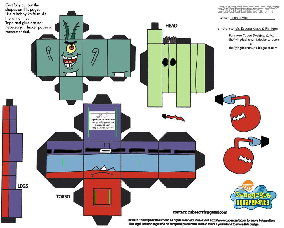 ss mr krabs n plankton cubee by theflyingdachshund on deviantart