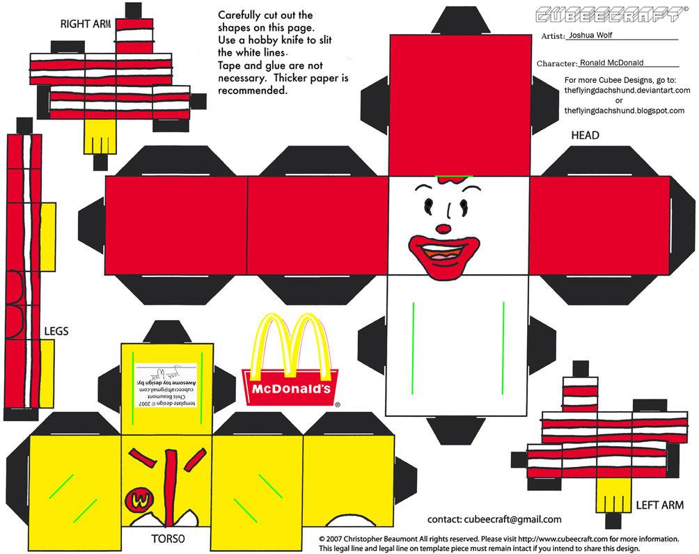 ADV CH 3: Ronald McDonald Cubee by TheFlyingDachshund