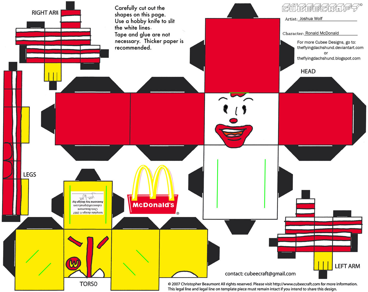 ADV CH 3: Ronald McDonald Cubee by TheFlyingDachshund on DeviantArt