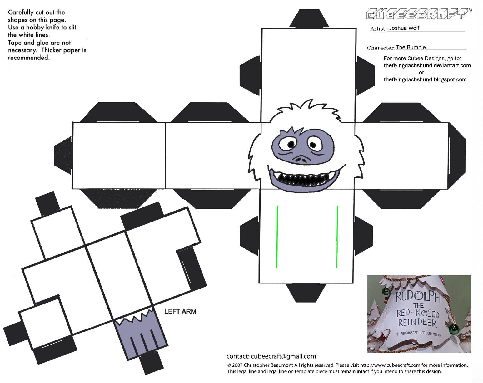Xmas1: Bumble Cubee by TheFlyingDachshund