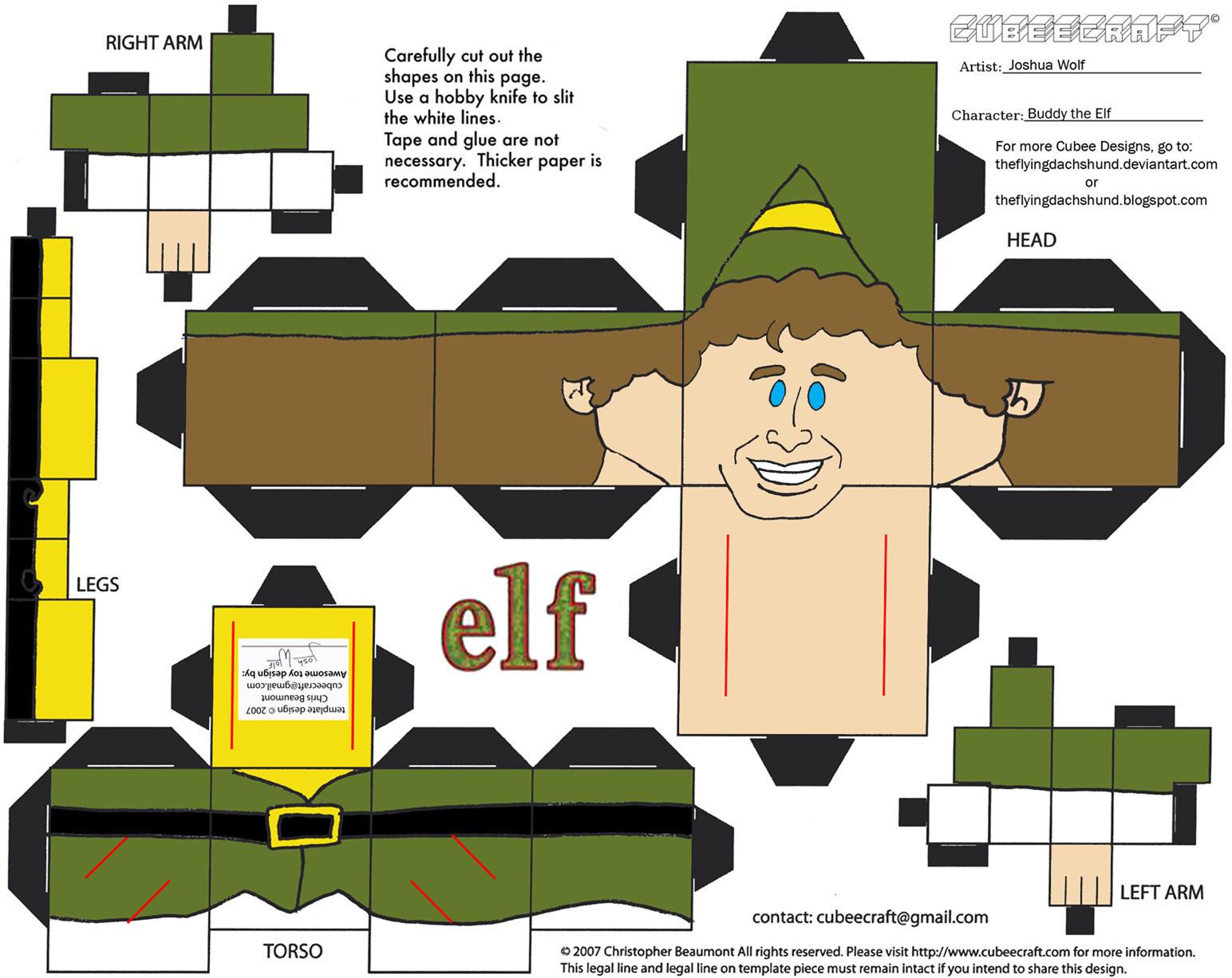 Buddy The Elf Cutout The Polar Express Train Life Size Cardboard