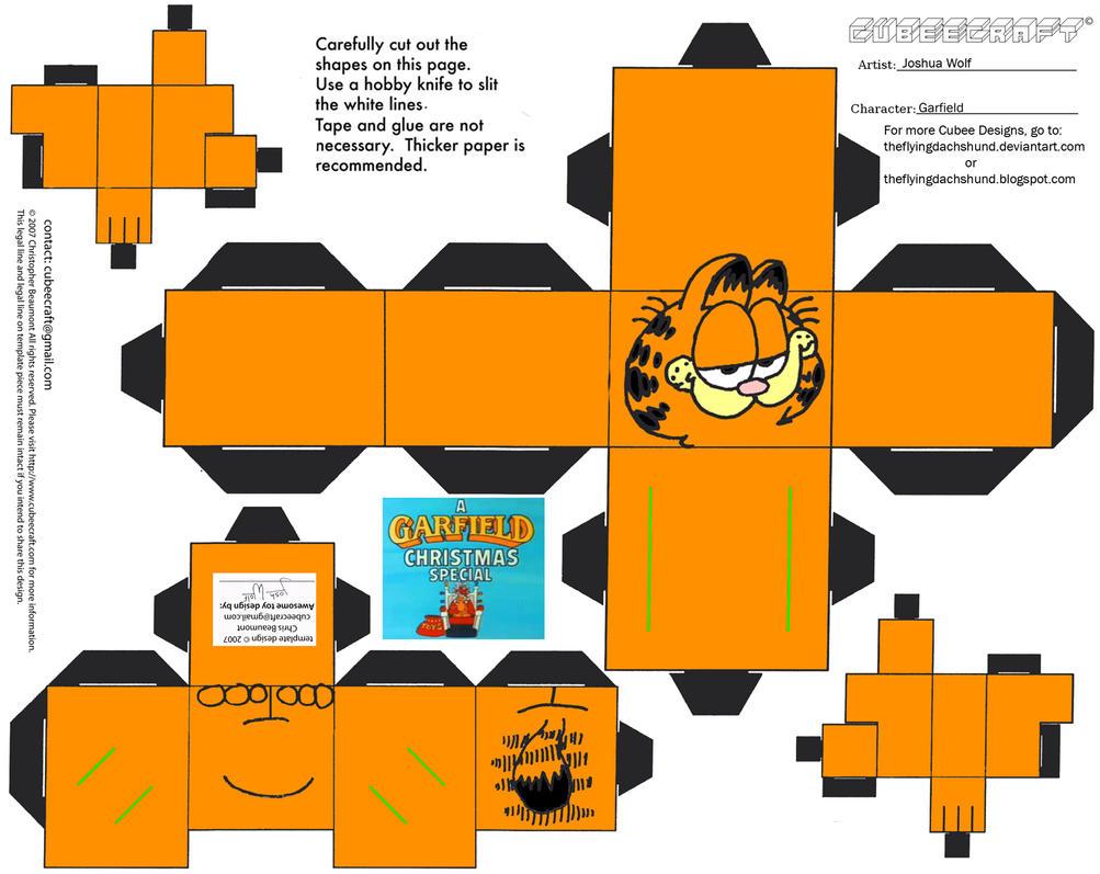 Xmas3: Garfield Cubee by TheFlyingDachshund