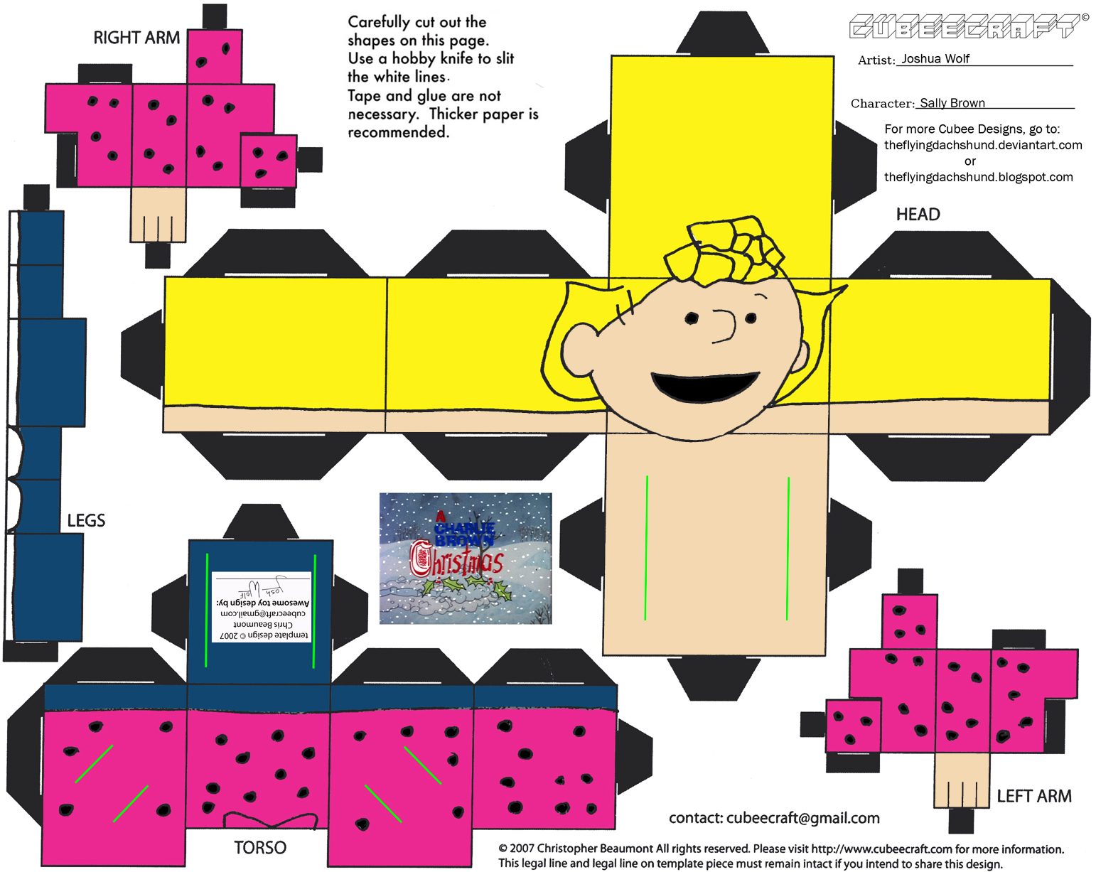 Xmas4: Sally Brown Cubee by