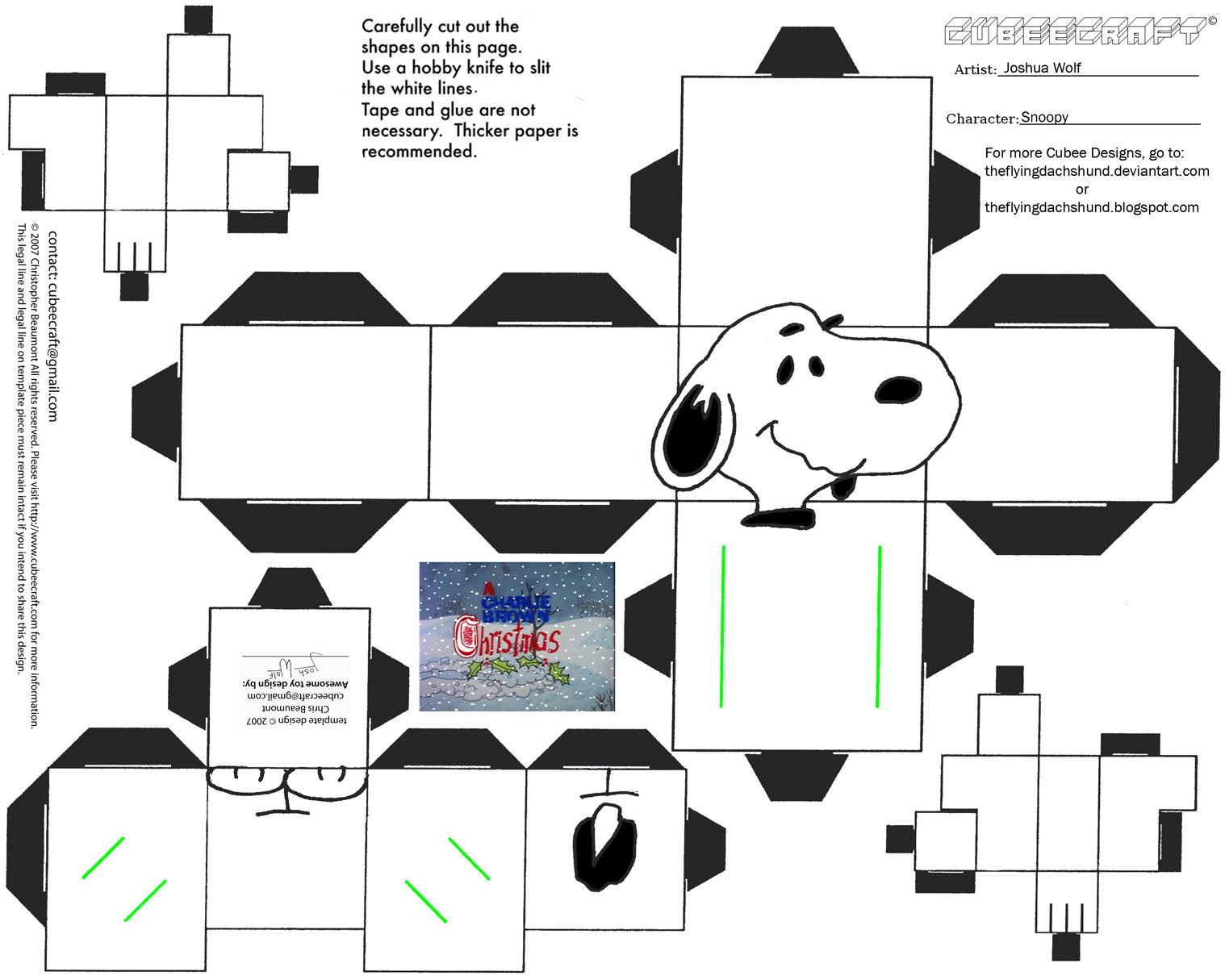 Charlie brown christmas tree coloring page - Xmas4 Snoopy Cubee By Theflyingdachshund On Deviantart