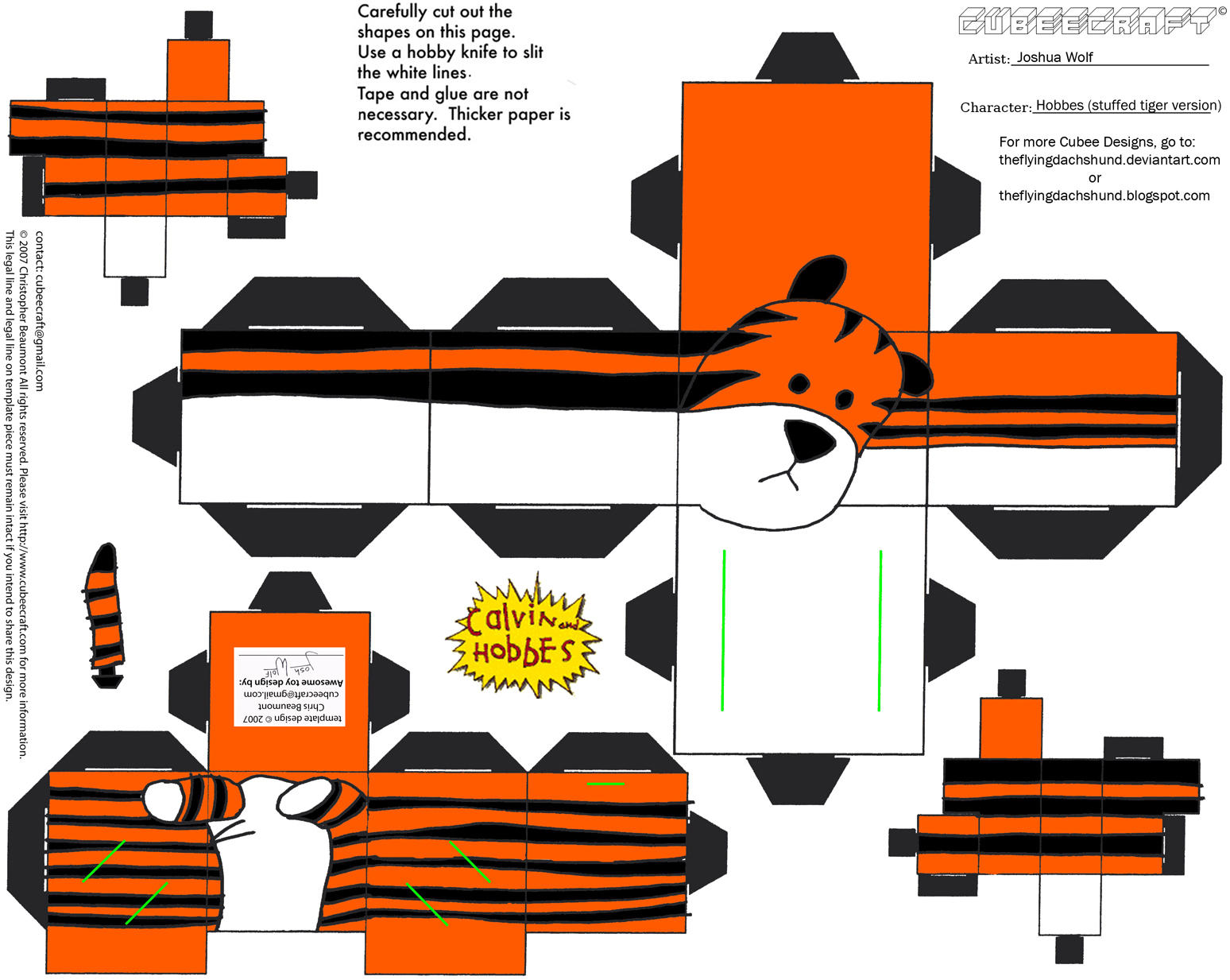 CH2: Stuffed Hobbes Cubee by TheFlyingDachshund