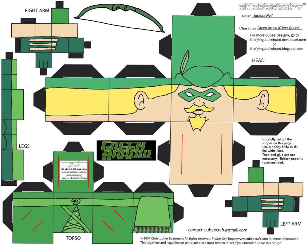 JLA 1: Green Arrow Cubee by TheFlyingDachshund