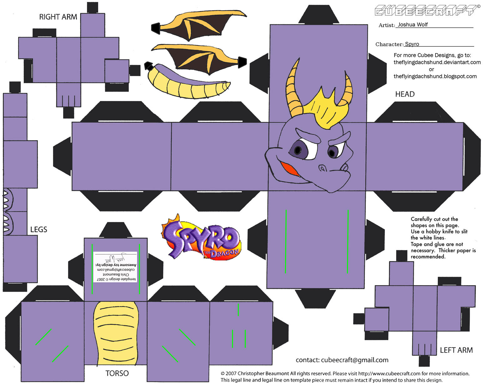VG9: Spyro Cubee by TheFlyingDachshund