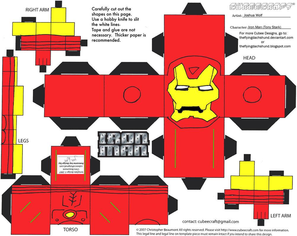 Marvel4: Iron Man Cubee by TheFlyingDachshund