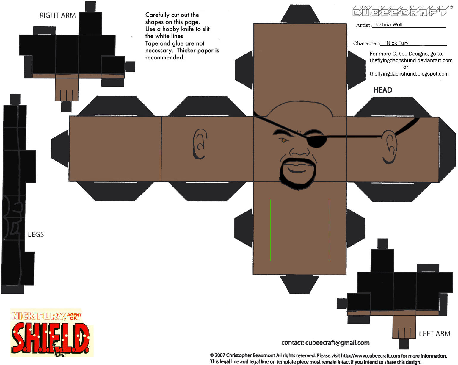 Marvel5: Nick Fury Cubee by TheFlyingDachshund