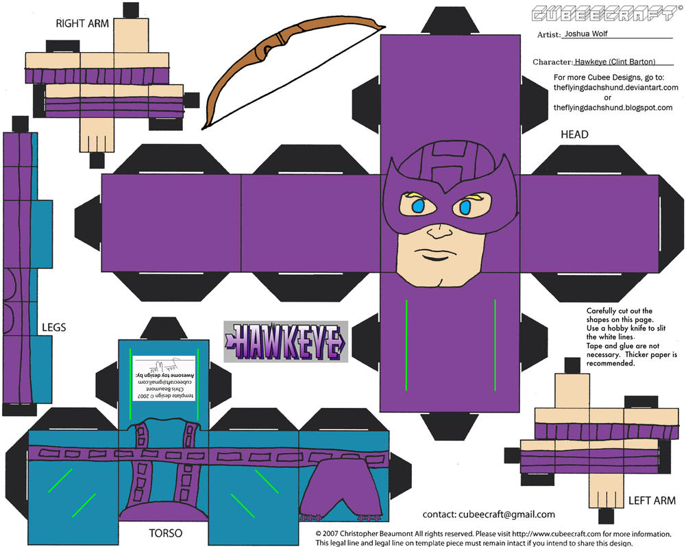 Marvel8: Hawkeye Cubee by TheFlyingDachshund
