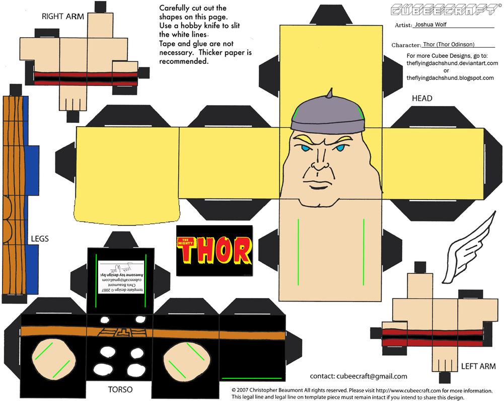 Marvel8: Thor Cubee by TheFlyingDachshund